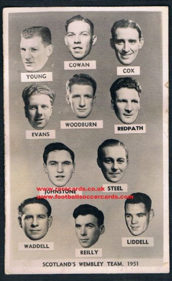 1951 Scotland Wembley team card